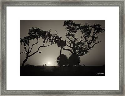 Morning Eclipse In Sepia Framed Print by Phill Doherty