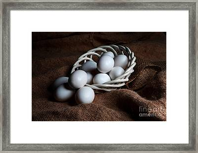Morning Eggs Framed Print