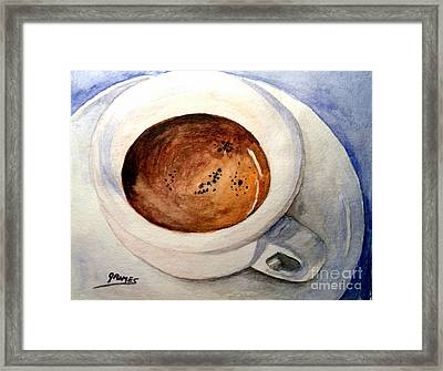 Morning Espresso Framed Print