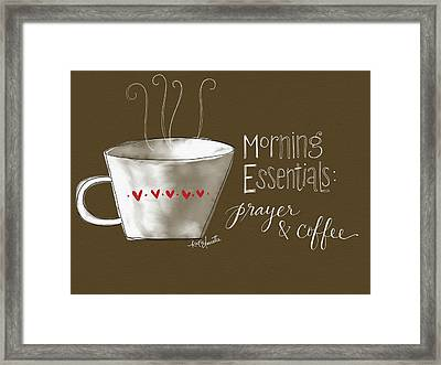 Morning Essentials Framed Print by Katie Doucette