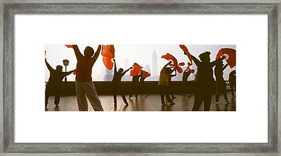 Morning Exercise, The Bund, Shanghai Framed Print by Panoramic Images