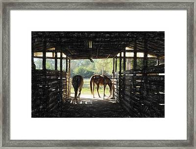 Morning Exit II Framed Print