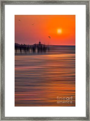 Morning Flight - A Tranquil Moments Landscape Framed Print by Dan Carmichael