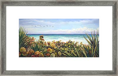 Morning Flyby Framed Print by Laurie Hein