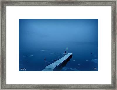 Morning Fog 001 - Skaha Lake 03-06-2014 Framed Print