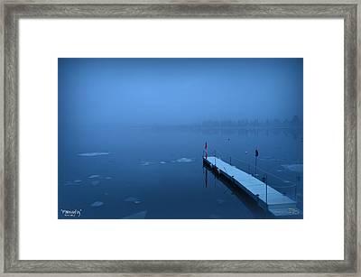 Morning Fog 002 - Skaha Lake 03-06-2014 Framed Print by Guy Hoffman