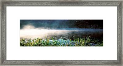 Morning Fog Acadia National Park Me Usa Framed Print by Panoramic Images