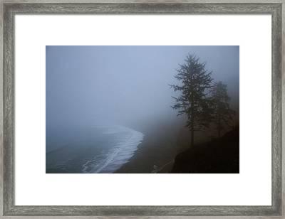 Morning Fog At Agate Beach Framed Print by Robert Woodward