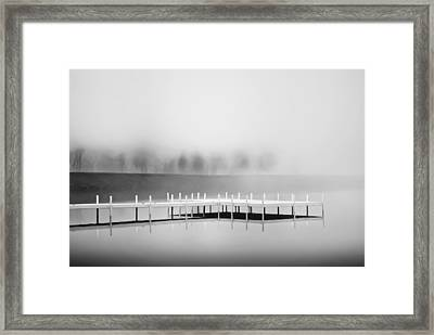 Framed Print featuring the photograph Morning Fog Burn-off by Greg Jackson