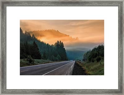 Morning Fog In Oregon Framed Print