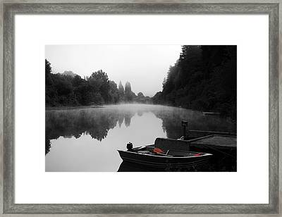 Morning Fog On Russian River Framed Print by Art K