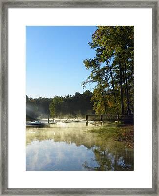Morning Fog On The Lake 3 Framed Print