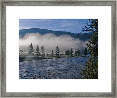 Morning Fog On The River Framed Print by SEA Art