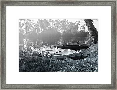 Morning Fog On The River Framed Print