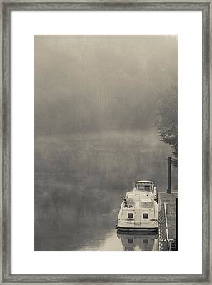 Morning Fog Over Lot River, Bouzies Framed Print by Panoramic Images
