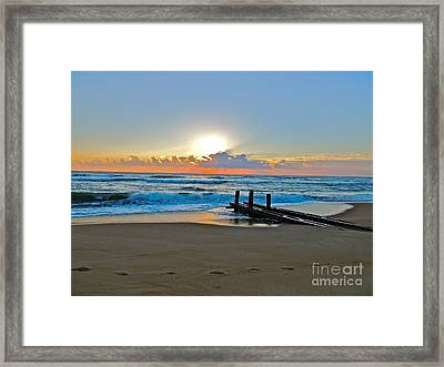 Morning Footprints Framed Print
