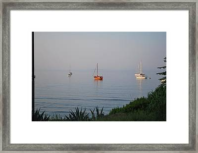 Framed Print featuring the photograph Morning by George Katechis