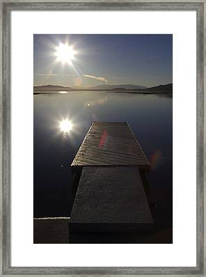 Framed Print featuring the photograph Morning Glare by Richard Stephen