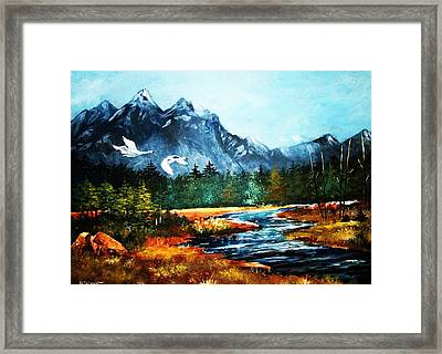 Morning Gliders Framed Print by Al Brown