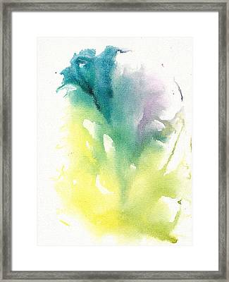 Framed Print featuring the painting Morning Glory Abstract by Frank Bright
