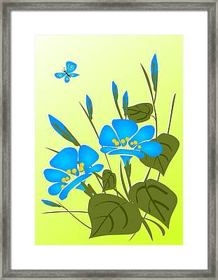 Morning Glory Framed Print by Anastasiya Malakhova