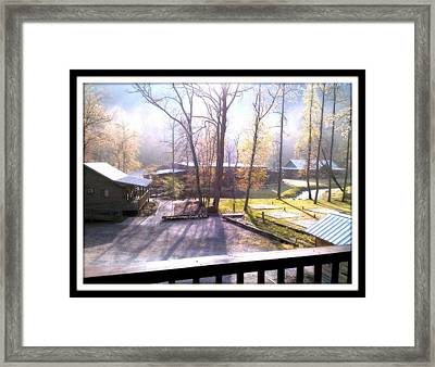 Framed Print featuring the digital art Morning Glory At Ironhorse Resort by Angelia Hodges Clay