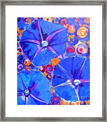 Morning Glory Flowers Framed Print by Ana Maria Edulescu