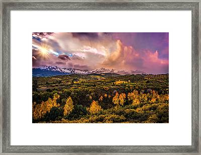 Framed Print featuring the photograph Morning Glory by Ken Smith