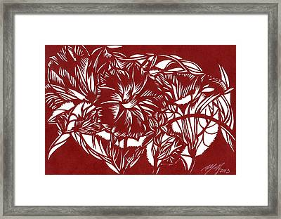 Morning Glory Paper Cut Framed Print