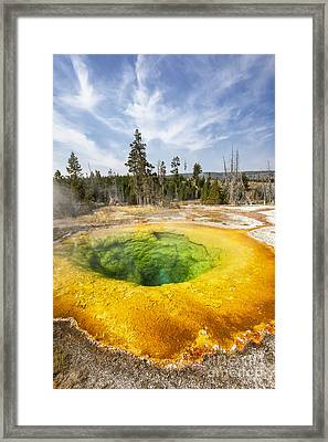 Morning Glory Pool In Yellowstone National Park Framed Print