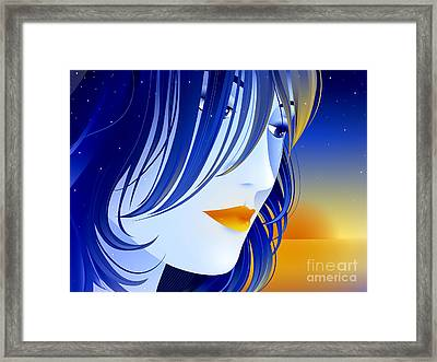 Morning Glory Framed Print by Sandra Hoefer