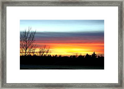 Framed Print featuring the photograph Morning Glory by Shirley Heier