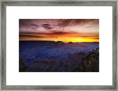 Morning Glow At The Canyon Framed Print