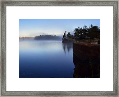 Morning Glow Framed Print by Gregory Israelson