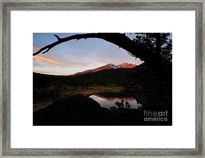 Morning Glow On Mountain Peaks Framed Print