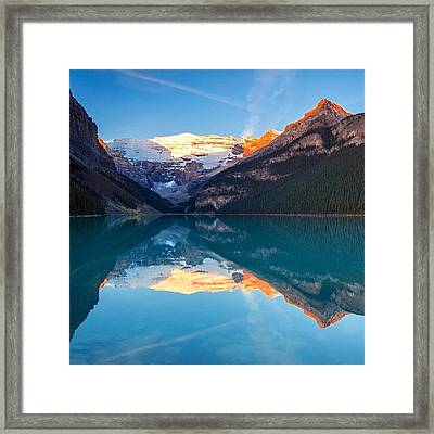 Morning Glow Reflections Framed Print