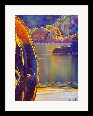 Watson Lake Paintings Framed Prints