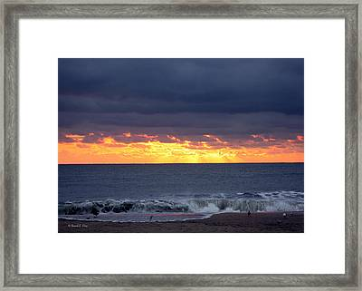 Morning Glow Framed Print by Russell  King