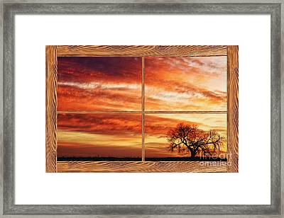 Morning Has Broken Barn Wood Picture Window View Framed Print by James BO  Insogna