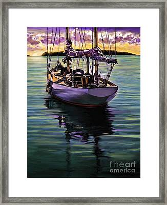 Morning Has Broken Framed Print by David  Van Hulst