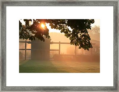 Framed Print featuring the photograph Morning Has Broken by Ed Cilley