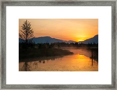Framed Print featuring the photograph Morning Has Broken by Jack Bell