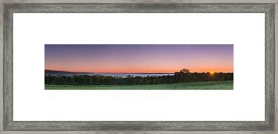 Morning Has Broken Over A Misty Valley Narrow Framed Print