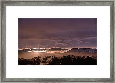 Morning Haze Framed Print