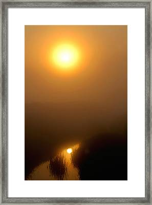 Morning Haze Framed Print by Sarah Boyd