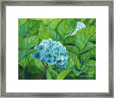 Framed Print featuring the painting Morning Hydrangea by Jingfen Hwu