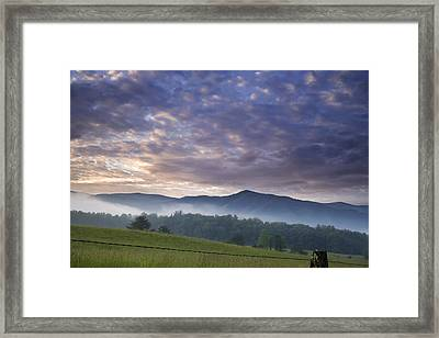 Morning In Cades Cove Framed Print by Andrew Soundarajan
