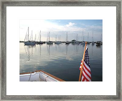 Morning In Cuttyhunk Harbor Framed Print
