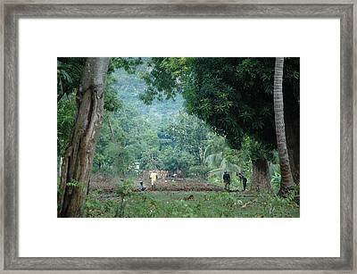 Morning In Cyvadier Framed Print by Marianne Miles