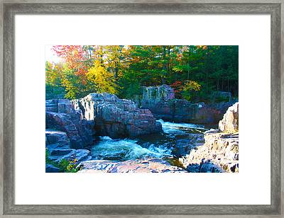 Morning In Eau Claire Dells Framed Print by Tiffany Erdman